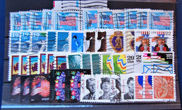 USA états-unis - Small Batch Of 50 Small Format Stamps Used - Sammlungen