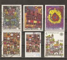 Oeuvres De Hundertwasser - Petit Lot De 6° - Luxembourg Série Complète 1310/12 - Autriche 1705/1939 - France S113 - Lots & Kiloware (max. 999 Stück)
