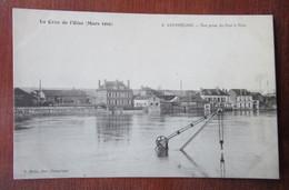 Compiègne - La Crue De L'Oise (Mars 1910) - Vue Prise Du Port à Vins - Grue - Compiegne
