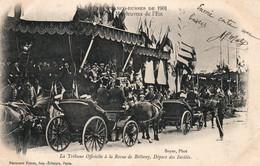 Reims - Grandes Manoeuvres De L'Est, Fêtes Franco-Russes 1901 - Tribune Officielle Revue De Bétheny, Départ Des Invités - Demonstrationen
