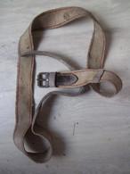 "Sangle Militaire - Cuir/tissu Marqué ""CEFAC LIMOGES 1937"" - Other"