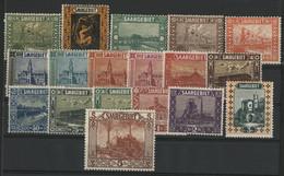 SARRE N° 83 à 100 COTE 140 € Neufs * (MH). TB - Unused Stamps