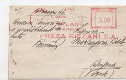IMPRESA RIZZANI - MLANO 1946 - Timbro Meccanico Rosso - Poststempel - Freistempel