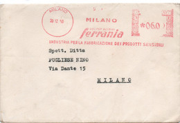 FERRANIA - MLANO 1950 - Timbro Meccanico Rosso - Poststempel - Freistempel