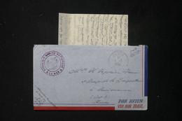 FRANCE - Enveloppe Avec Contenu D'un Marin à Saigon En 1952 Pour La France, Obl.  Poste Navale + Cachet Ancre - L 84335 - Correo Naval