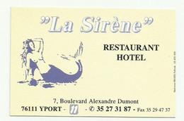 Carte Du Restaurant Hotel La Sirène Yport 76 - Sin Clasificación