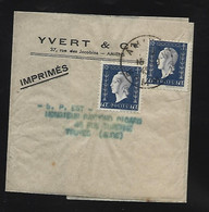 Marianne De DULAC   60 C  X 2   Sur Bande De Journal   Oblit AMIENS   1945 - Non Classificati