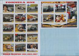 Fantazy Labels Private Issue World Championship Formula One Race Driver Nelson Piquet. Brazil. 2021 - Viñetas De Fantasía