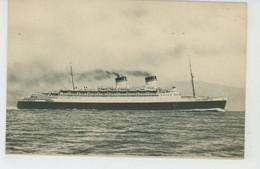 """BATEAUX - PAQUEBOTS - ITALIA - Flotte Riunite Genova - """"CONTE DI SAVOIA """" - Steamers"""