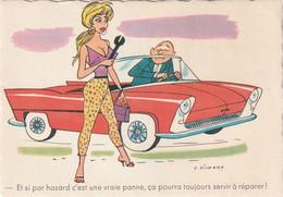 995 - ILLUSTRATEUR PICHARD . ET SI PAR HASARD C'EST UNE VRAIE PANNE CA POURRA TOUJOURS SERVIR A REPARER PIN UP VOITURE - Humor
