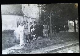 ► Photographie Guerre 1939-1945 Sur CPA Sépia -  Mariage D'un Soldat  - France Ou Allemagne - War, Military