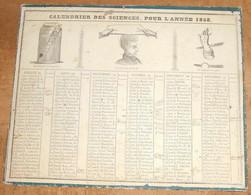Calendrier Des Sciences Pour L'Année 1858 - Big : ...-1900