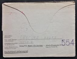 Carte-lettre Prisonnier De Guerre STALAG VI A Hemer Arbeits-Kommando Cachet 554 Vers La Valette Saint Santin Nov 1941 - WW II