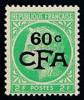 REUNION 1949-52 - Yv. 286 (=FR 680 + Surch) *   Cote= 5,10 EUR - Type Cérès De Mazelin 2f Vert-jaune  ..Réf.FRA29198 - Nuevos