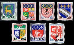 REUNION 1961-68 - Yv. 342 343 344 346A 346B 350A Et 373 **   Cote= 2,30 EUR - Armoiries (7 Val.)  ..Réf.FRA29178 - Unused Stamps