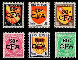 REUNION 1949-52 - Yv. 281 à 286 NEUF   Cote= 12,40 EUR - Armoiries Et Cérès (6 Val.)  ..Réf.FRA29183 - Unused Stamps