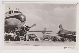Vintage Rppc KLM K.L.M Royal Dutch Airlines Convair Aircraft @ Schiphol Amsterdam Airport Version 1 - 1919-1938: Between Wars