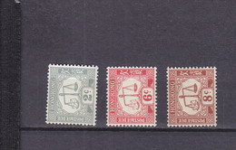 HONG KONG LOT POSTAGE DUE YT 6-8-9 MNH - Postage Due