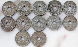 Lot De Monnaies Type Lindauer Toutes Différentes Années Départ 1 €!!!! - F. 25 Centesimi