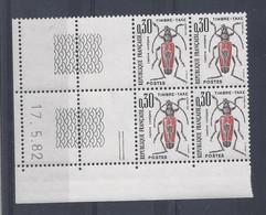 TAXE N° 109 - Bloc De 4 COIN DATE - NEUF SANS CHARNIERE - 17/5/82 - Portomarken