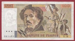 """100 Francs """"Delacroix"""" -----1979------ALPH .X.18-----DANS L ETAT - 100 F 1978-1995 ''Delacroix''"""