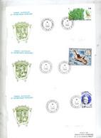 Lettre Cachet Dumont D'urville   1 Janvier 1988 Sur Lejay  Carte Ile Pingouin  Algue - Brieven En Documenten