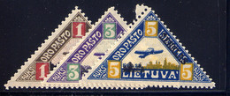 LITHUANIA, SET, NO.'S C15-C17, MLH - Lithuania