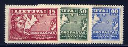 LITHUANIA, SET, NO.'S C85-C87, MH - Lithuania