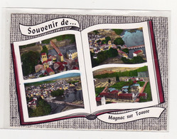 Souvenir De Magnac Sur Touvre L'église St Cybard Vue Générale La Touvre Le Groupe Scolaire - Other Municipalities