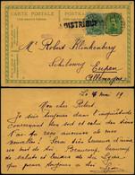 DEL079 RARE Carte De Comblain Au Pont à Eupen Cachet à Distribuer ( Pour Pays Neutres ) Luxembourg Suisse Pays - Storia Postale