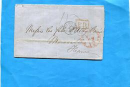 Marcophilie- -lettre U S A-1860>france Cad - New York -fev 1860- PD En Rouge+entrée  Françe - Marcofilie
