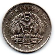 Ile Maurice -  5 Rupee 1992 - TTB - Mauritius