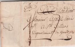 SETTE (manuscrit) Conjointement à 33 CETTE - Début Des Marques Linéaires à N° - L.A.S. GENET à APTEL Aîné à St GILLES - Historische Documenten