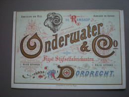 DORDRECHT - MIJL - ONDERWATER & CO - RIJST-STIJFSELFABRIKANTEN - PORCELEINKAART / CARTE PORCELAINE 13.5 X 9.5 - Dordrecht