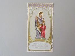Ancienne Carte Image Pieuse Religieuse Eglise Des Carmes Soignies Statue De St Joseph - Soignies