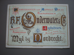 DORDRECHT - MIJL - ONDERWATER & CO - ASPHALTEURS - PORCELEINKAART / CARTE PORCELAINE 13.5 X 9.5 - Dordrecht