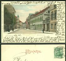 """PFORZHEIM 1902 !! Handcoloriert """" Strassenszene In Der Bleichstrasse """" Künstleraquarell Bedarf > Hanau - Pforzheim"""