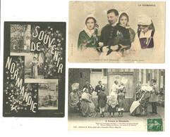 """Lot 10 CPA """"a Travers La Normandie"""" Costumes,noces,laitière ,Äne...... - Sonstige"""
