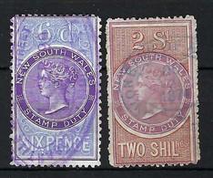 NOUVELLES GALLES DU SUD Fiscaux: Lot D' Obl. Du IXXème Siècle - Used Stamps