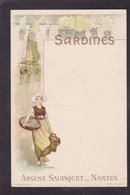 CPA Publicité Publicitaire Réclame Non Circulé Sardines Saupiquet Nantes - Advertising