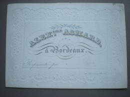 BORDEAUX -  ALEXANDRE ACHARD - CARTE DE VISITE PORCELAINE 12.5 X 9 - Bordeaux
