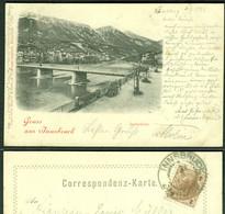 """Innsbruck Tirol 1898 !!! """" Gruss Aus ..  """" Bedarf Mit Sondertarif Nach D. Marke F.J. 2 Kr Braun > Hanau - Innsbruck"""