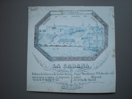 CUBA - HABANA - LA CABANA, FABRICA DE TABACOS - TABAK / TABAC - BUSINESS CARD  11 X 11 - Mundo