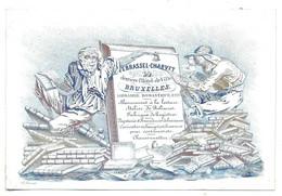 Bruxelles Librairie Verrassel Charvet Carte Porcelaine - Porseleinkaarten