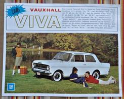 Depliant VAUHXALL VIVA 1963 1966 General Motors - Practical