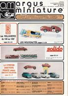 Argus De La Miniature N° 83 - Année 1986 - Literatuur & DVD