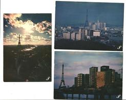 """Lot 3 CPM  """"Prestige""""Paris La Tour Eiffel Au Crépuscule - Andere Fotografen"""