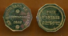 JETON // 1847// SCEAUX // AU GRAND PARC DE SCEAUX // 1,50 Francs - Monetary / Of Necessity