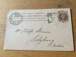 K14 K14 Great Brittain Stationery Entier Postal Ganzsache P 18 139x89 From London To Salzburg - Ohne Zuordnung