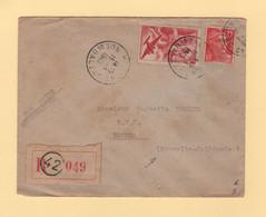 Destination Nouvelle Caledonie - Recommande - Paris - 1949 - 1921-1960: Periodo Moderno